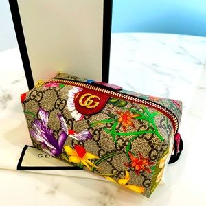 Gucci Ophidia floral GG cosmetic case small
